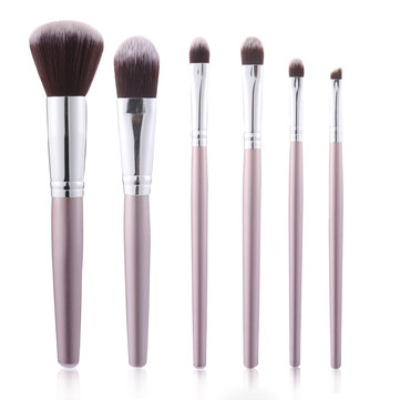 6pcs Luckyfine Soft Makeup Brushes Set Foundation Blend Lips Liner Eye Shadow Powder Cosmetics Tool