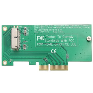Adapter Converter Card To PCI-E X4 For Apple Macbook Pro 2013 A1493 A1466 SSD