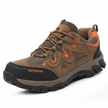 Большой размер Мужчины Удобная одежда Устойчивая подошва На открытом воздухе Походные спортивные туфли