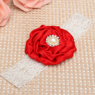 Cute Adorable Children Baby Soft Elastic Hair Accessories Bands Flower Headbrand