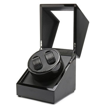 Automatic Watch Winder Wooden Dual Automatic Motor Storage Display Case Box