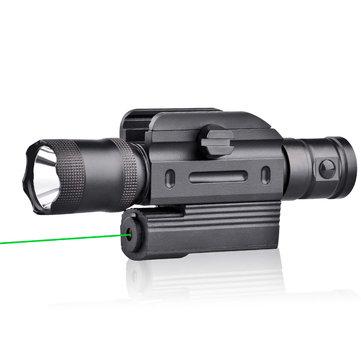Micolite MGL-021 5mW/532nm Green Laser Sight Hang Type Rail Mount Locator with U2 600LM Work Light
