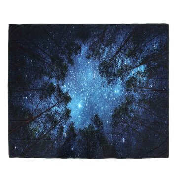 IPRee ™ 153x102CM Outdoor Travel Strandhanddoek Mat Forest Starry Sky Polyester Hangende Tapijt
