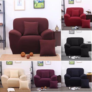 أربعة مقاعد الصلبة الألوان النسيج دنة سترينش مرونة أريكة الأريكة غطاء الأثاث حامي