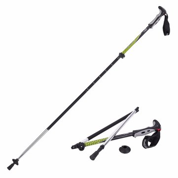 Naturehike 4 Sectie Trekking Pole Folding Walking Stick Camping Ultralight Aluminium Alpenstock