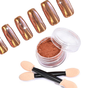 Rose Gold Chrome Pure Powder Magic Mirror Effect Nail Powder Manicure Pigments Glitters Shinning 2g