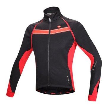 Homens de santic que repetem ciclicamente tecido jérsei de inverno velo de roupa de tecido jérsei de bicicleta de jaqueta de manga longo removível
