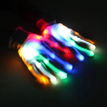 متعدد الألوان الصمام اللمعان قفازات الكهربائية تضيء عيد أداء الرقص الهذيان حزب المرح الدعائم