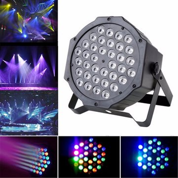 Buy 36W LED RGB Auto Sound Activated Par Light Party KTV Disco DMX512 Stage Lighting for $34.48 in Banggood store