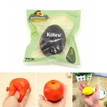 3PCS Kiibru Avocado Eric Pomegranate Yellow Lemon Squishy Slow Rising Original Packaging