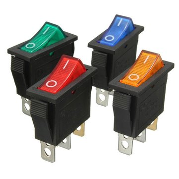 3 pin interruttore on / off a bilanciere con lo snap-in LED