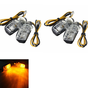 4pcs ambra LED turn luci mini indicatore lampeggiatore moto