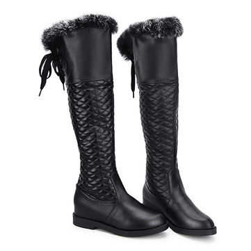 Women Winter Over The Keen Boots Cotton Increased Platform Boots Biker Boots
