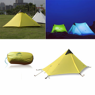 3F UL Gear Waterproof Single Tent 15D Nylon Coated 1 Tower Top Vorm Geen Polen Geen Grondblad