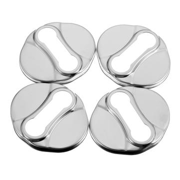 Car Door Lock Buckle Protective Cover Caps 4pcs for KIA Sportage R 2010 - 2014 Car Styling