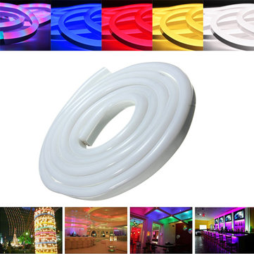 Buy 2M 2835 LED Flexible Neon Rope Strip Light Xmas Outdoor Waterproof 110V for $15.99 in Banggood store