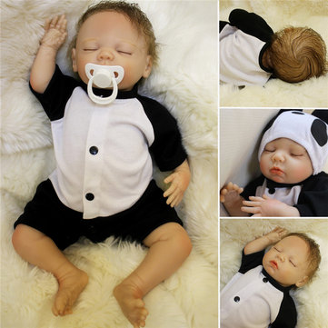 Lovely 18inch Soft Silicone Vinyl Real Life girl Boy Reborn Baby Newborn Baby Doll