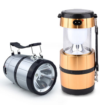 Retractable Camping Tent Solar Lantern Outdoor draagbare Emergency LED Lamp