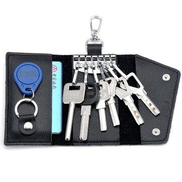 ユニセックスホルダーは本革の車の多機能の役割にキーを保持しています