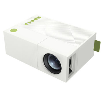 YG310 LCD Mini Portable Projector 600 Lumens 320x240 Pixels Support 1080P 1300mAh Built-in Battery