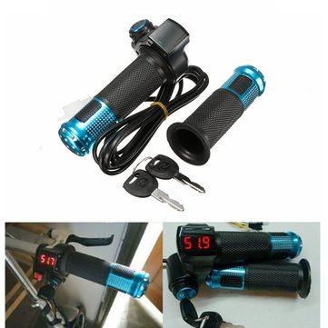 24V 36V 48V Scooter EBike Electric Throttle Grip Handlebar LED Digital Meter
