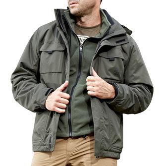 Mens 실외 방수 스포츠 2 in 1 Jacket Casual Multi Pockets Work Coat