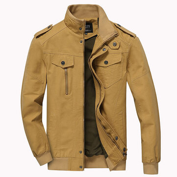 Winter Stand Collar Casual Jacket Cotton Washing Cargo Large Size Jacket Coat For Men