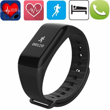 F1 Blood Pressure Oximeter Heart Rate Health Monitor Sport Smart Bracelet for Android IOS IP67