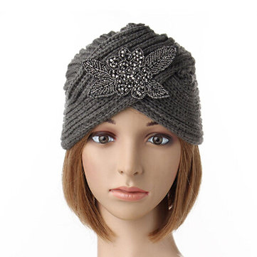 Women Crochet Knitting Beanie Cap Turban Handmade Headwrap Headbrand Winter Warm Hat
