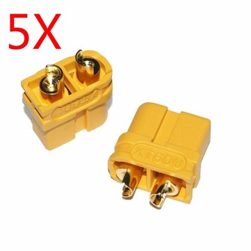 5X Upgraded Amass XT60U Male Female Bullet Connectors Plugs for Lipo Battery 1 Pairs