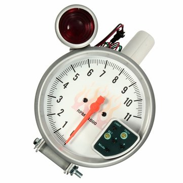 Universal 5 inch 7 color white tachometer gauge tach meter shift universal 5 inch 7 color white tachometer gauge tach meter shift light 11000 rpm sciox Choice Image