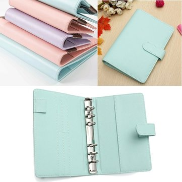 A6 Faux Leather Loose Leaf Notebook Weekly Monthly Planner Diary Cover