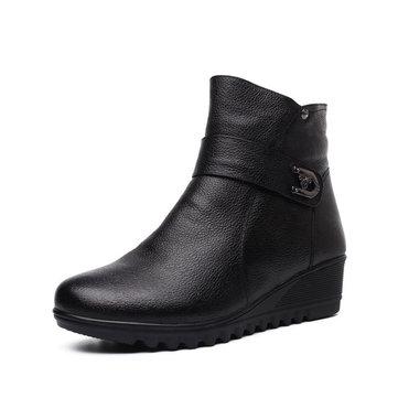 Big Size Women Winter Warm Boots Zipper Short Boots Platform Anti Skid Cotton Boots
