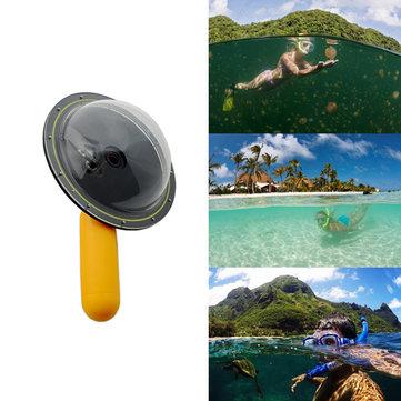 Versão atualizada porta cúpula óptica fotografia subaquática para Gopro hero 3 3 + 4