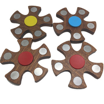MATEMINCO Wooden EDC Hand Spinner Cuscinetto staccabile Scrivania Focus Fidget Gyro Toy