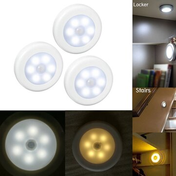 3pcs Wireless PIR Motion Sensor LED