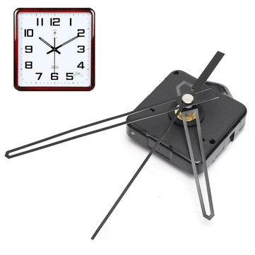 Replacement Quartz Clock Movement Mechanism Motor & Black Hands & Fittings Kit
