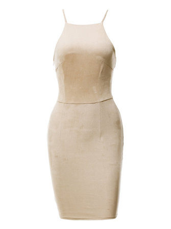 Sexy Vrouwen Sleeveless Harness Cross Bandage Pencil Dresses