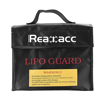 Upgraded Realacc Fireproof Waterproof LiPo Battery Safety Bag 240x180x65mm With Luminous Handle