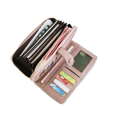 Lady Wallet Purse Credit Card Clutch Holder Long Wallets with 8 Card Slots & 8 Currency Compartments