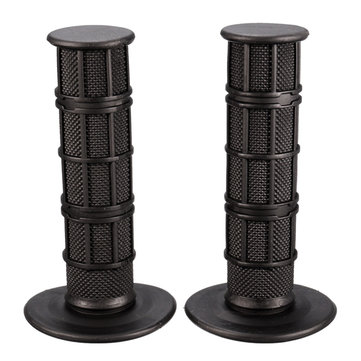 22mm Motorcycle Scooter Black Rubber Handlebar Throttle Handle Grips For Pit MX Dirt Bike