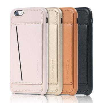 Remax Idea Serie Kaarthouder Stand PU Leather Back Case Voor iPhone 6 6S