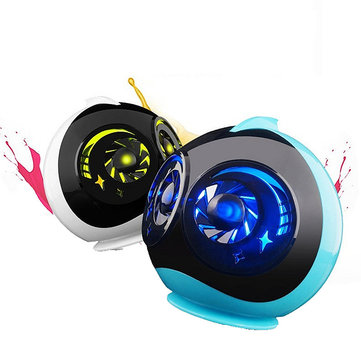 ONTOP Q616 Double Unit Wireless Bluetooth Colorful LED Light Alien Shape Mini Speaker Subwoofer
