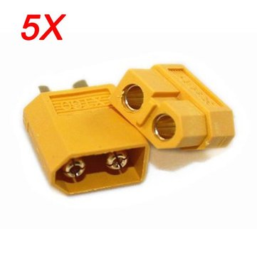 5X XT60 Male Female Bullet Connectors Plugs For RC Battery