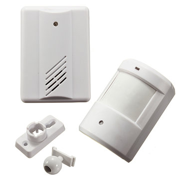 Infrared Wireless Doorbell Alarm System Motion Sensor with Receiver 926649