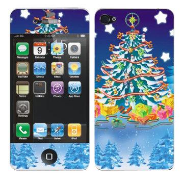 Vigilia di Natale natale protezione dello schermo albero modello per iphone 4 4s
