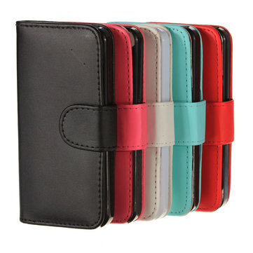Magnetic Flip Folio Leather Wallet Case Cover For iPhone5
