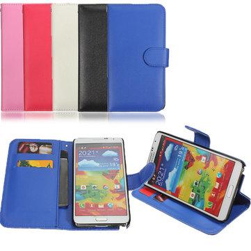 Raccoglitore di cuoio della copertura della cassa del sacchetto di vibrazione per Samsung Galaxy Note N9000 3