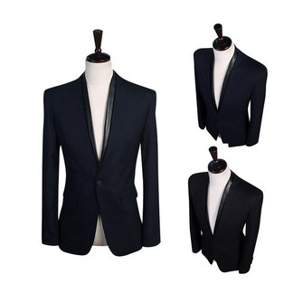 Homens elegantes casuais Slim Fit se adapta botton
