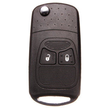 Two Buttons Remote Entry Key Case Shell For Chrysler Dodge With Blade